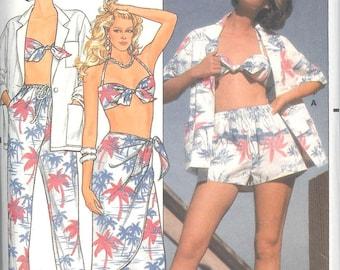 Vintage Butterick Pattern #3306 - Sizes 12-14-16 - Beachwear