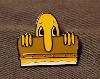 Kilroy Squeegee Enamel Pin