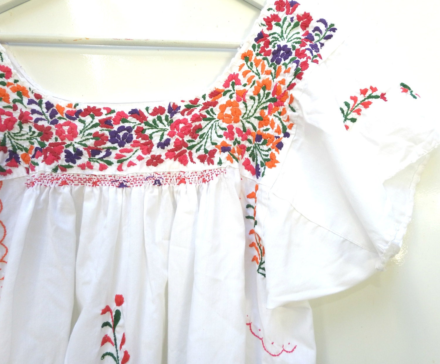 Traditional Mexican Embroidered Blouse