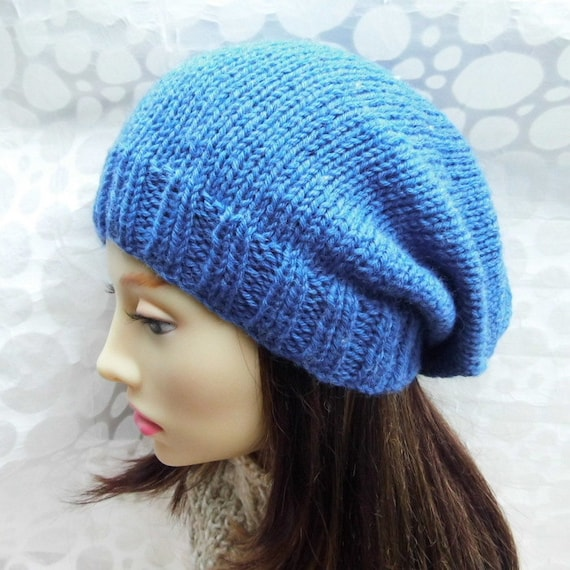 Womens Slouch Beanie Pattern Easy Slouch Hat Knitting Pattern Knit