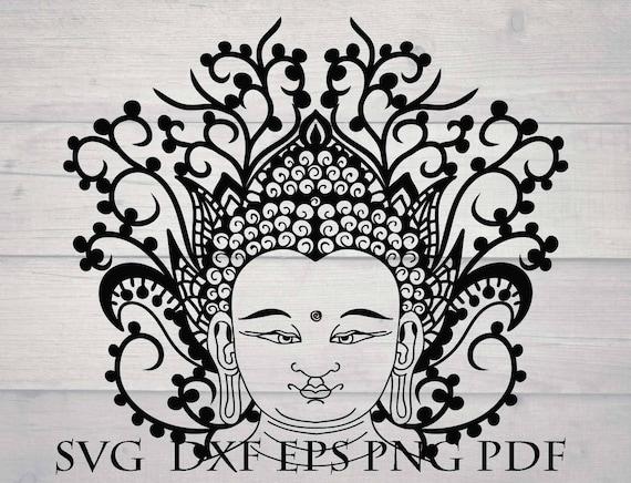 Buddha Svg File For Cricut Tibet Lotus Mandala