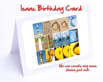Isaac Personalised Birthday Card