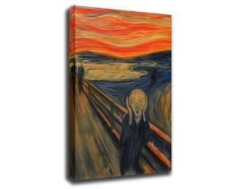 Edvard Munch The scream Art Print Poster Canvas/Glossy HD Canvas, Gallery Wrap Or Glossy Poster