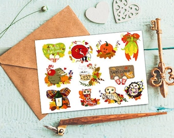 Fall stickers Fall planner stickers Fall decorative stickers Happy fall stickers Decorative planner stickers Fall Erin Condren Happy planner