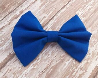 Sea Blue Fabric Hair Bow Clip or Headband / Sea Blue Bow / Blue Bow Headband / Blue Bow Clip / Solid Blue Bow / Blue Hair Bow / Blue Bow