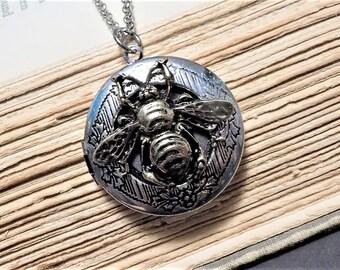 Mixed Metal Bee Locket
