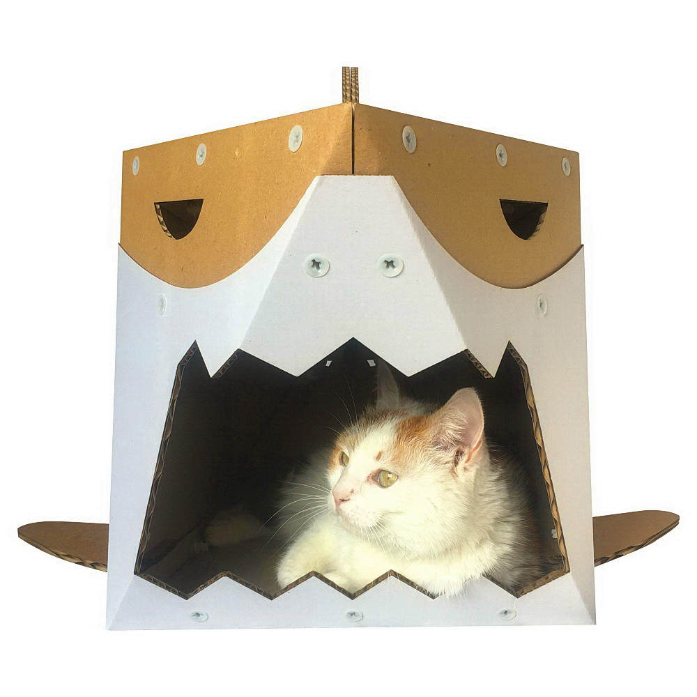 requin chat en carton chat maison unique jouet pour chat. Black Bedroom Furniture Sets. Home Design Ideas