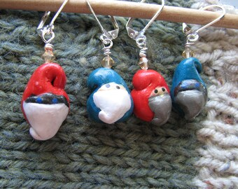 Miniature gnomes | garden | stitch markers knitting | crochet | handmade | supplies