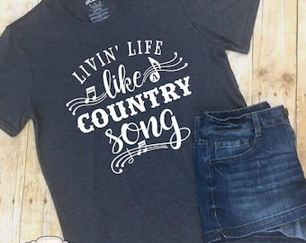 Country Music Shirt Country Song Shirt Country Concert Tee