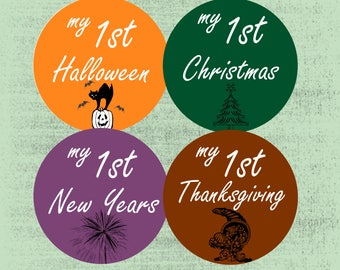 Baby Holiday Stickers, Milestone Baby Sticker, First Holiday Set,  Gifts for New Moms, Baby's First Stickers , Tribal ArrowBaby Shower Gift