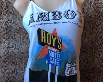 Vintage Reworked Route 66 Amboy Roys Motel Tshirt Bodysuit
