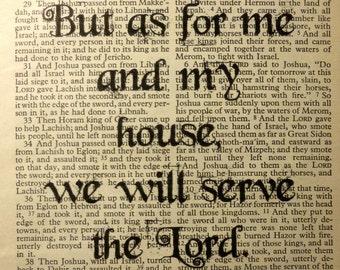 Bible Verse Art Print Instant Download Joshua 24:15 Digital Scripture Book Printable Scripture Christian Wall Art