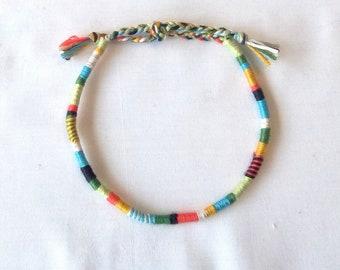 Wrap style anklet atebas multicolor hippie anklet Brasilda