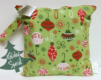 SALE* Small Wet Bag - Wet Bag - 11 X 11 - O' Tinsel Tree