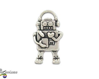 Robot Bot AI Android Droid Lapel Pin