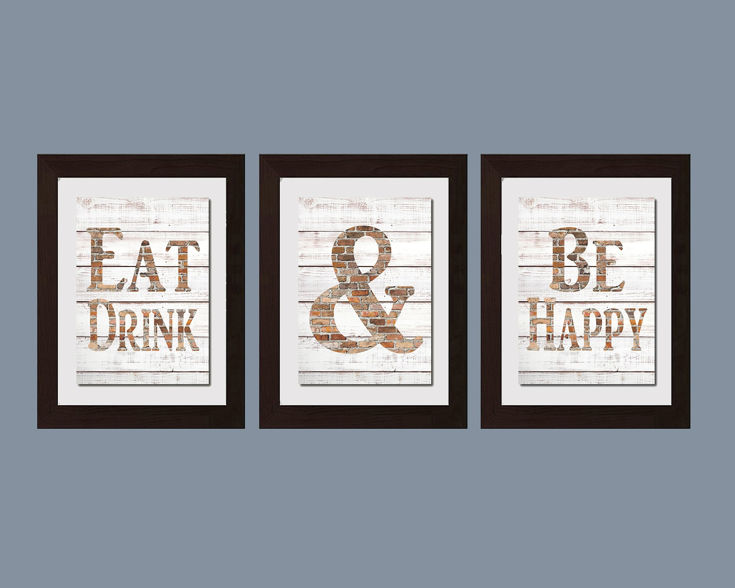 Modern kitchen wall art shabby chic wall art eat and drink zoom teraionfo