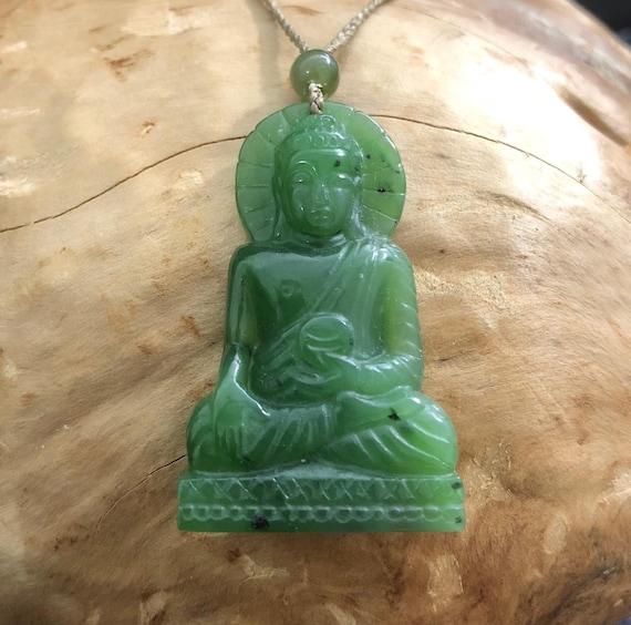 Canadian jade buddha pendant 4254 jade necklace natural aloadofball Gallery