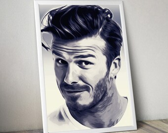 DAVID BECKHAM digital download,art print,wall art,printable file