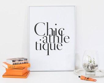 CHIC MINIMALIST Print   CHIC Monochrome Print   Chic Athletique Print   Chic Fashion Print   Chic Typography Print, Stylish Monochrome Print