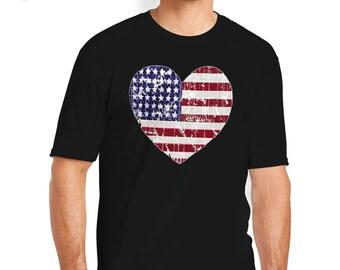 Love America T-Shirt, Patriotic Shirt, Patriotic T-Shirt, American T-Shirt, US T-Shirt, American Pride T-Shirt, American Flag T-Shirt