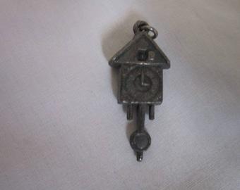 Antique Silver 3D Cuckoo Clocke Charm Bracelet Charm