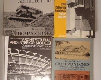 4 Great Architecture Books Stickley Craftsman Homes Hines Design Construction NR