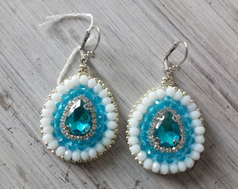 Earrings Bead-Embroidery