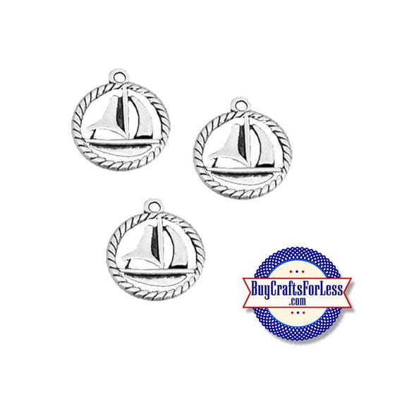 SAILBOAT Charms, 6, 12, 24 pcs +FREE SHiPPiNG & Discounts*