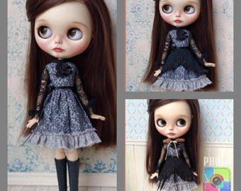 Blythe dress set, including basic dress + overskirt + collar.