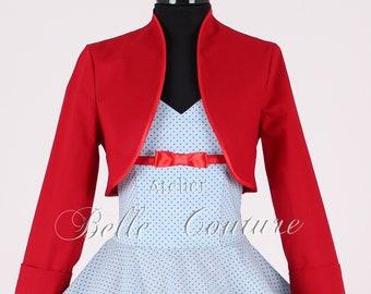 Custom Made & Handmade - Bolero Jacket with long sleeves