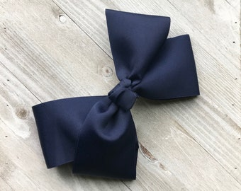 Extra large Navy boutique bow
