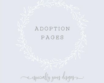 Adoption Pages for your Baby Book | Adoption Baby Book | Adoption Memory Book