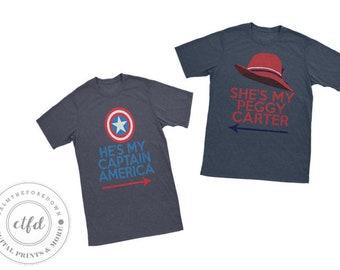 Captain America & Peggy Carter Typography 8x10 Digital Prints