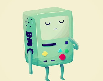Who Wants To Play Video Games - Illustration Print