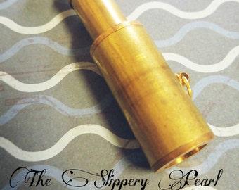 Spyglass Pendant Large Pendant Pirate Pendant Moveable Spyglass Pendant Nautical Pendant Large Focal Pendant Sailor Pendant Ocean Charm