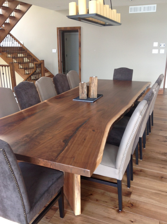 black walnut live edge table live edge dining room table. Black Bedroom Furniture Sets. Home Design Ideas