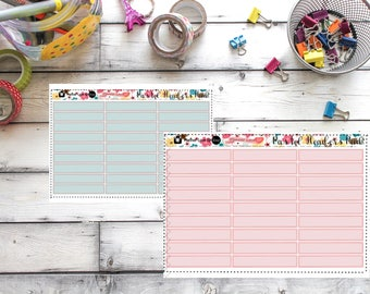Soft Pastel Headers 3 Colors Stickers set