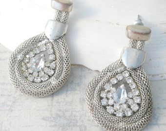 Diamante Earrings - Statement Earrings - Rhinestone Earrings - Gift for Women - Chandelier Earrings - Dramatic Earrings - Mother's Day Gift