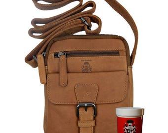 Mens shoulder bag NAGY of brown leather