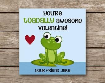 PRINTABLE - Valentine's Day Tag - Frog Valentine - Toad Valentine - Frog Favor Tag - Toad Favor Tag - Gift Tag - Custom - Personalized