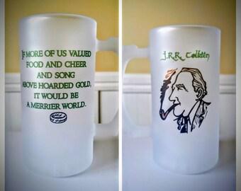 J.R.R. Tolkien Frosted Beer Stein