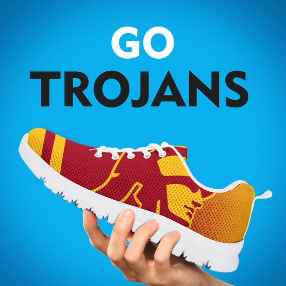 Football Collector Trainers Kids Womens Gift Custom Sizes Running Gift Trojans Shoes Mens Sneakers Gift 6Hv77wq