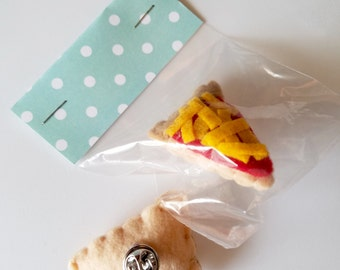 Cute Food Plush Pins
