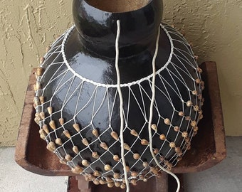 Akasa (extra-large Ga-style netted gourd rattle)            FREE DOMESTIC SHIPPING
