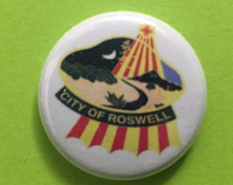 "City of Roswell NM seal !"" button"