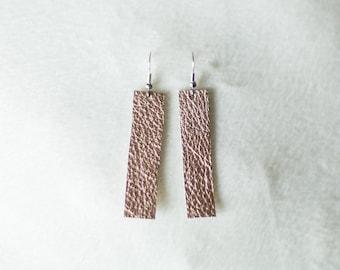 Metallic Rose Gold Earrings