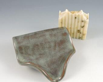 Ceramic Soap Dish ~ Soap Saver ~ Soap Dish Pottery ~ Self Draining Soap Dish ~ Handmade Soap Dish ~ In Stock