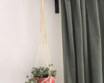handmade macrame plant hanger 100% natural cord hanging planter pot holder