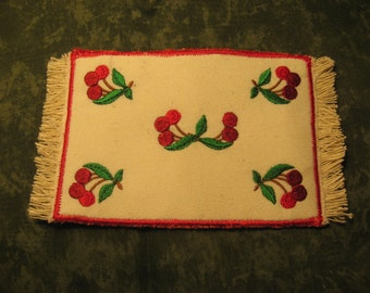 Large Cherry rug for your miniature one inch scale dollhouse