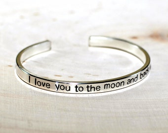 Love You to the Moon and Back Bracelet in Sterling Silver - 925 BR054